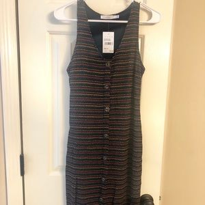 NWT- Multi-colored stripe midi dress